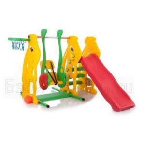 Детский игровой комплекс, горка, качели, мяч - кольцо, кселофон