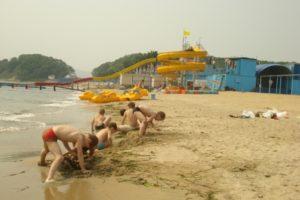 Аквапарк, пляж